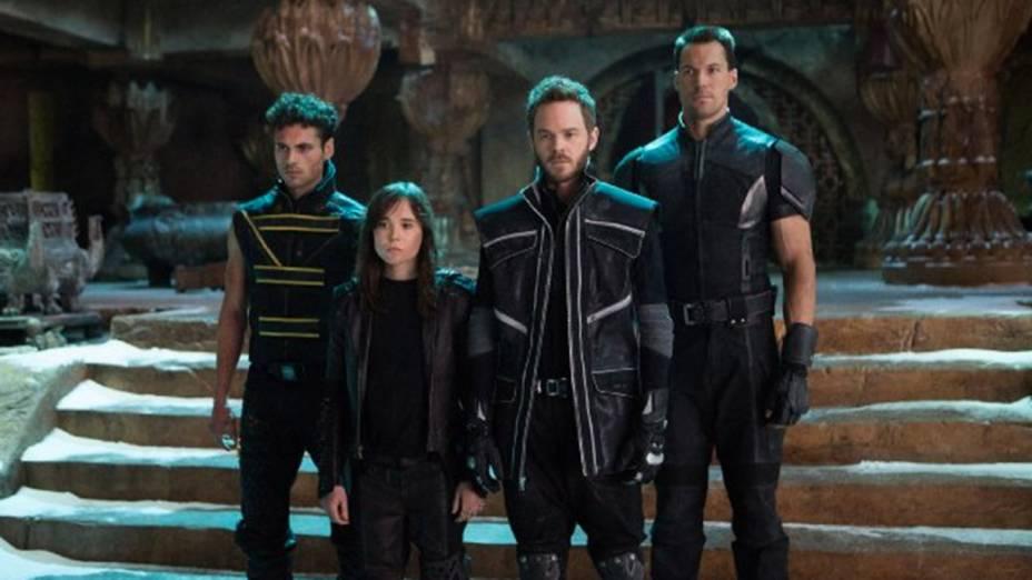 Atores Shawn Ashmore, Ellen Page, Daniel Cudmore e Adan Canto em cena do filme X-Men – Dias de um Futuro Esquecido