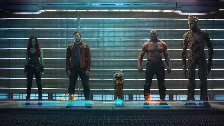 Cena do filme Guardiões da Galáxia