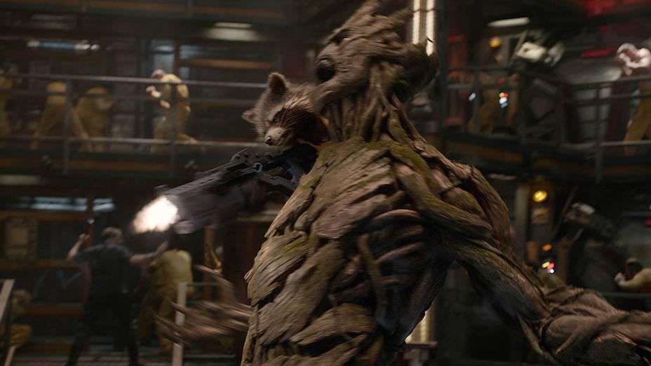 O personagem Groot em Guardiões da Galáxia, dublado pelo ator Vin Diesel