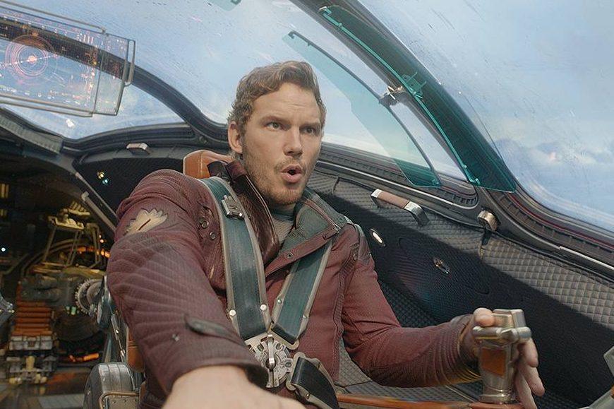 Chris Pratt em cena do filme Guardiões da Galáxia