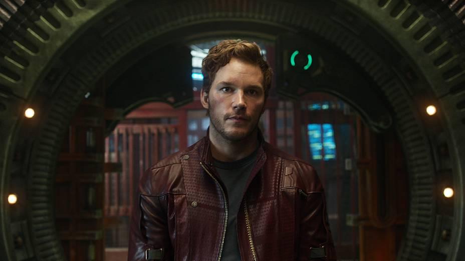 O ator Chris Pratt como Peter Quill em Guardiões da Galáxia