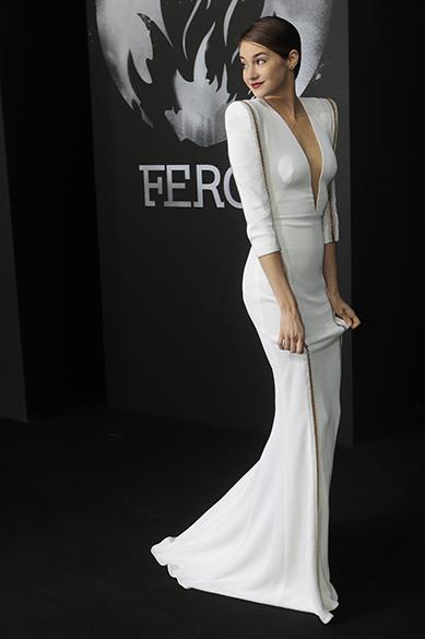 A atriz norte-americana Shailene Woodley durante uma premiação do filme Divergent em Berlim, Alemanha