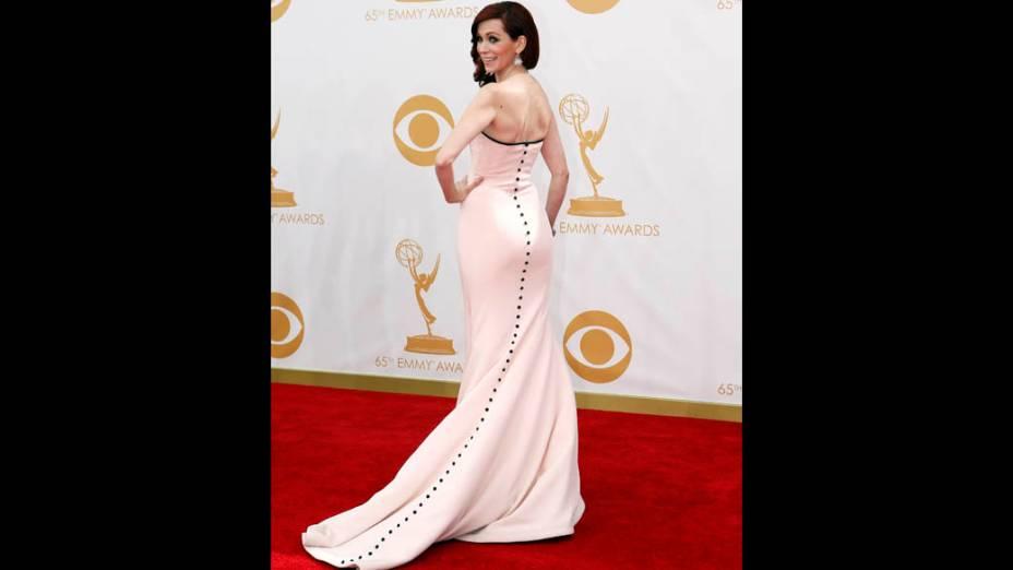 Atriz Carrie Preston da série True Blood, chega para a premiação do Emmy