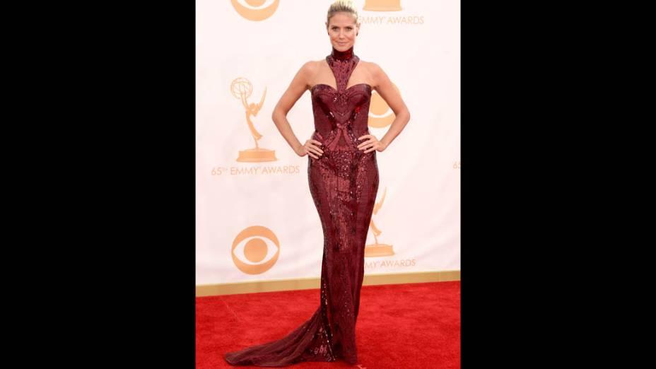 Modelo Heidi Klum, chega para a premiação do Emmy, em Los Angeles