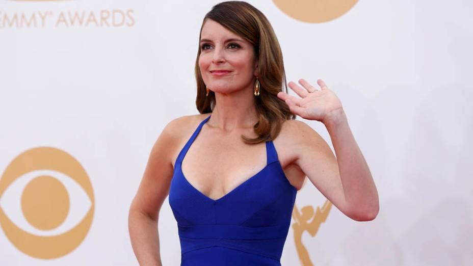 Atriz Tina Fey da série 30 Rock, chega para a premiação do Emmy, em Los Angeles