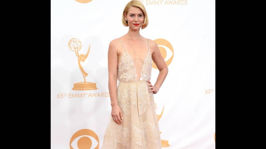 Atriz Claire Danes chega para a premiação do Emmy, em Los Angeles