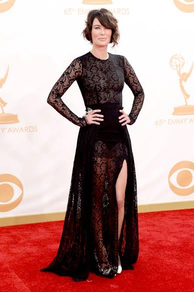 Atriz Lena Headey da série Game of Thrones, chega para a premiação do Emmy, em Los Angeles