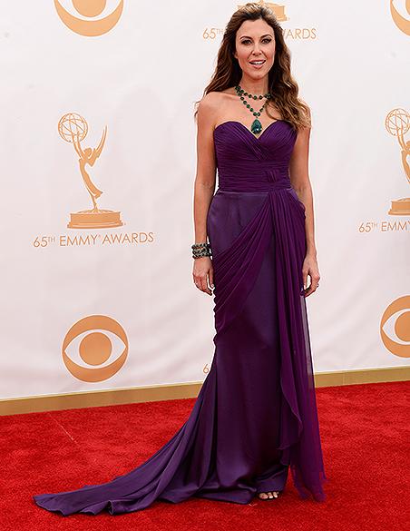 Apresentadora Tea Andrews, chega para a premiação do Emmy, em Los Angeles