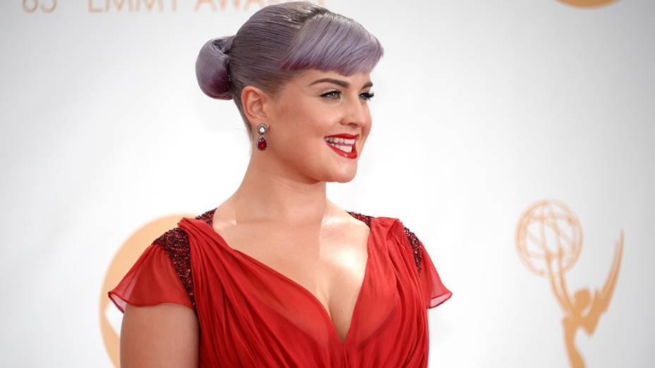 Kelly Osbourne, chega para a premiação do Emmy, em Los Angeles