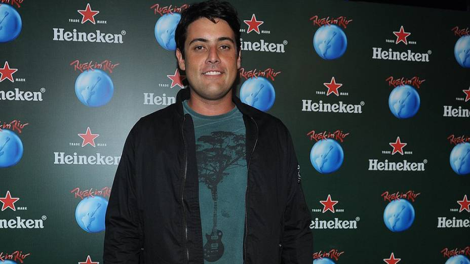 Bruno de Lucca no camarote Heineken na Cidade do Rock