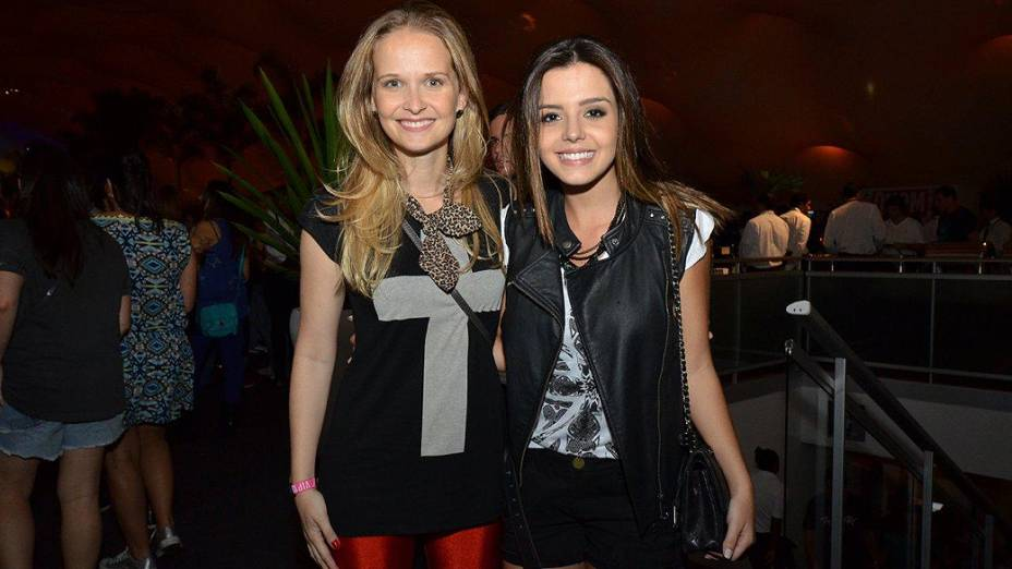 Fernanda Rodrigues e Giovanna Lancelotti na Cidade do Rock