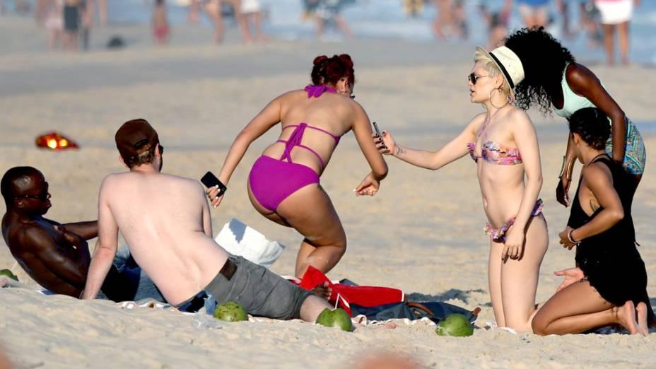 Cantora Jessie J na Praia do Leblon, no Rio