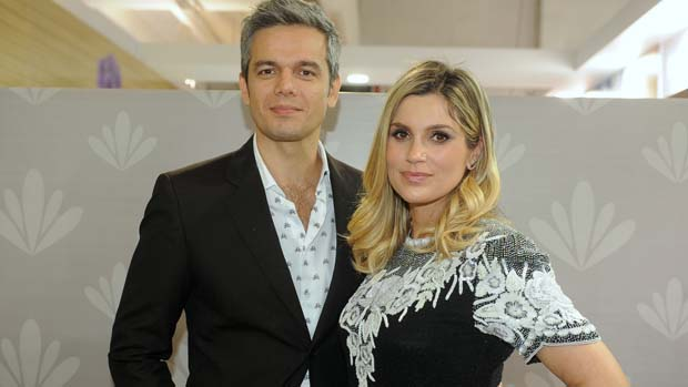 Flávia Alessandra e Otaviano Costa na 8ª edição do Salão Moda Brasil