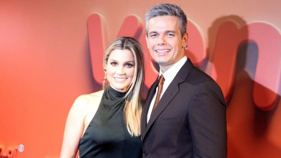 Flavia Alessandra e Otaviano Costa na Festa Vem Ai da Globo no Citibank Hall em São Paulo