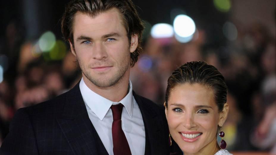 Chris Hemsworth e sua mulher Elsa Pataky participa da premiere do filme Rush premiere no 38º Festival Internacional de Cinema de Toronto