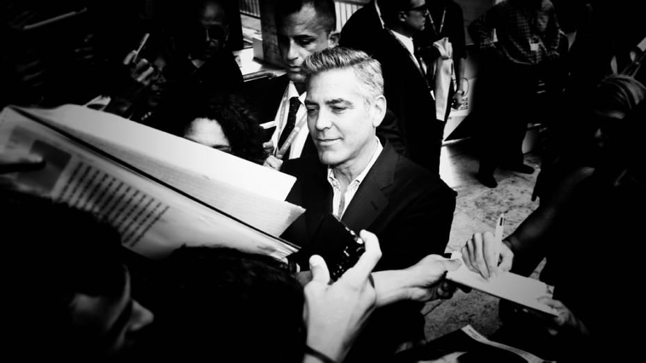 George Clooney em coletiva de imprensa do filme Gravidade, no 70º Festival de Veneza