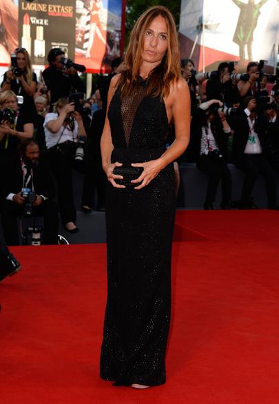 A diretora italiana Maria Sole Tognazzi, no tapete vermelho do 70º Festival de Cinema de Veneza