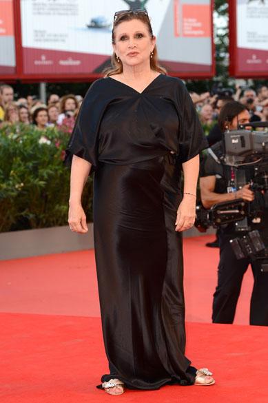 Membro do júri Carrie Fisher durante o 70º Festival Internacional de Cinema de Veneza, no Palazzo del Cinema