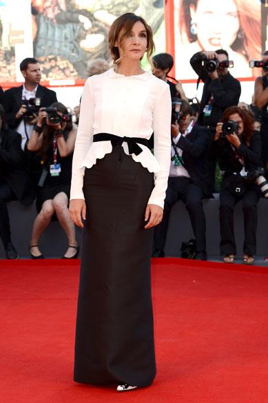 Atriz Clotilde Coureau durante o 70º Festival Internacional de Cinema de Veneza, no Palazzo del Cinema