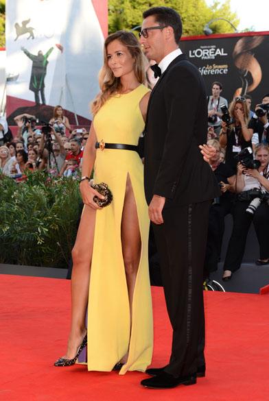 Lorenzo Tonetti e Natalia Borges durante o 70º Festival Internacional de Cinema de Veneza, no Palazzo del Cinema