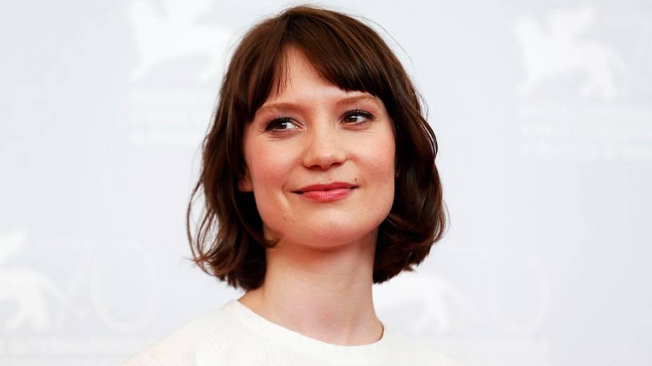 Mia Wasikowska atriz do novo filme de John Curran Tracks participa durante o 70º Festival Internacional de Cinema de Veneza
