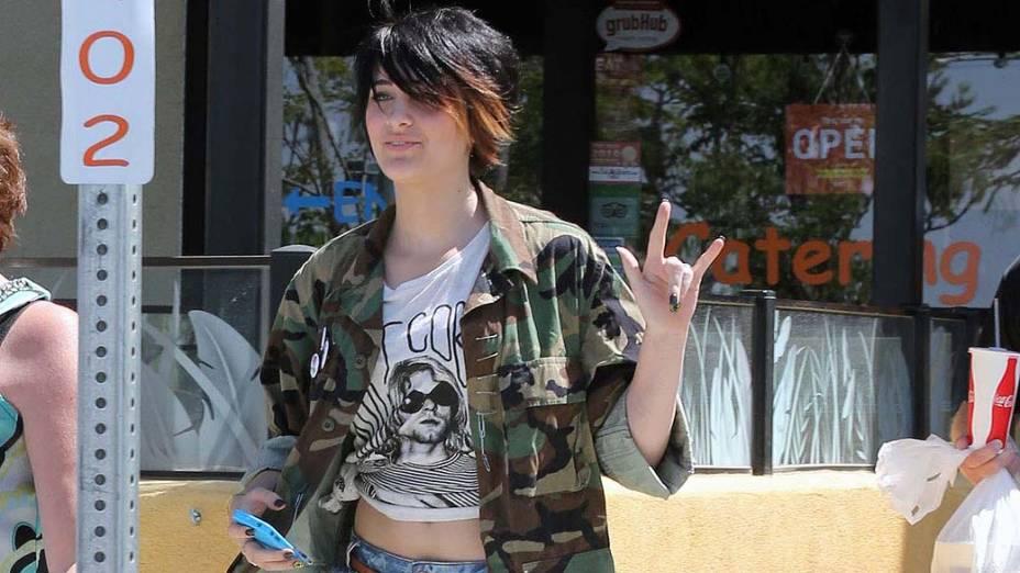 Paris Jackson, filha do cantor Michael Jackson