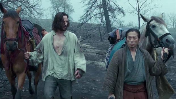 Keanu Reeves e Hiroyuki Sanada em cena do filme 47 Ronins