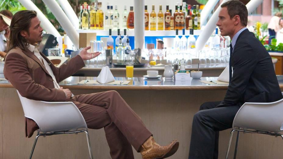 Brad Pitt e Michael Fassbender no filme O Conselheiro do Crime