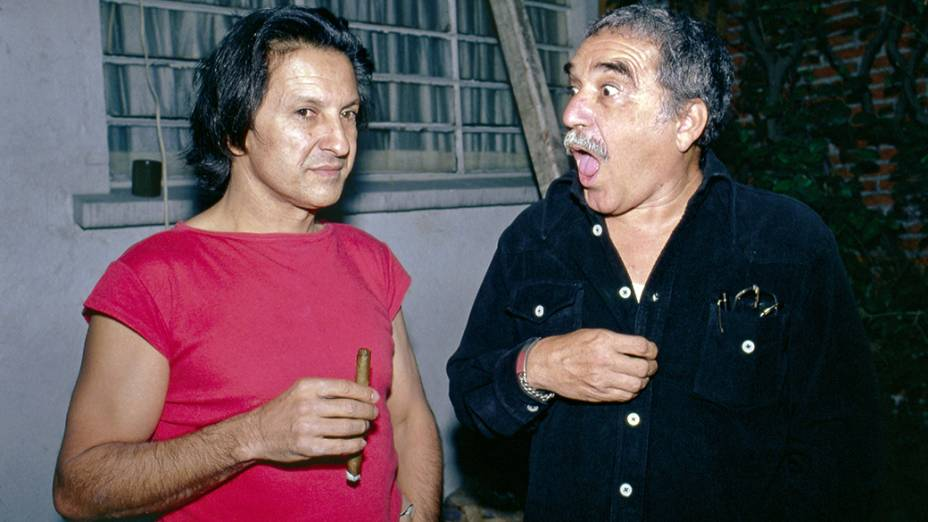 Gabriel García Márquez e Ruy Guerra., em 1982