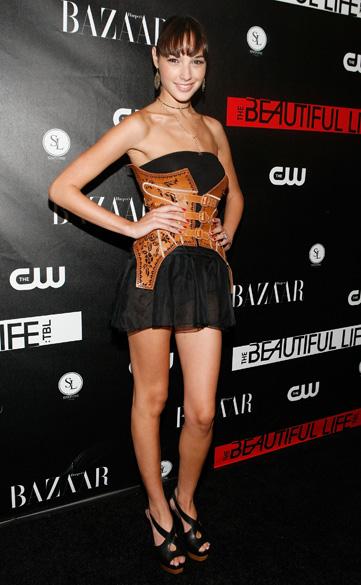 Atriz Gal Gadot durante um evento em Nova York, em 2009
