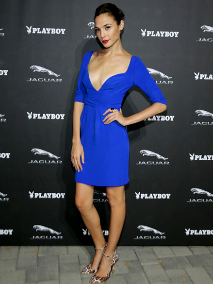 Atriz Gal Gadot durante um evento da revista Playboy e da Jaguar, em Monterey