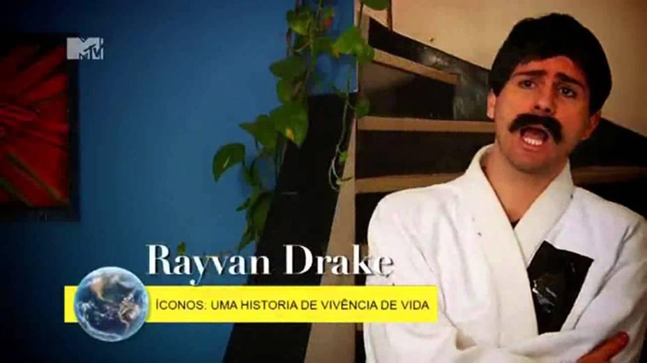 Personagem Rayvan Drake de Fausto Fanti do programa Hermes & Renato