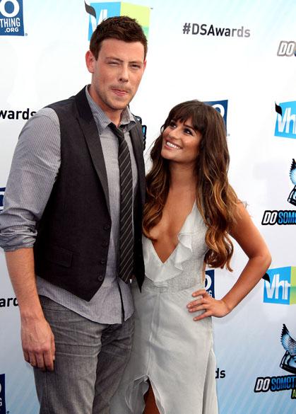 O ator Cory Monteith e a namorada, Lea Michele