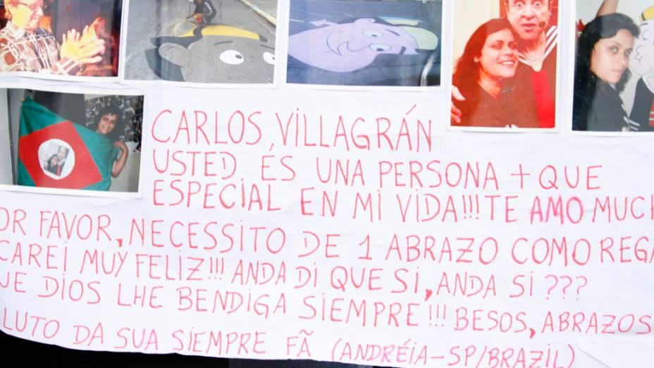 Cartaz feito por uma fã de Carlos Villagrán
