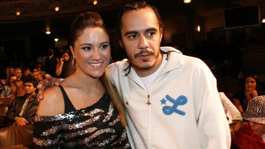 Marcelo D2 e Maria Rita, no 14º Prêmio Multishow de Musica Brasileira, no Teatro Municipal do Rio de Janeiro em 2007