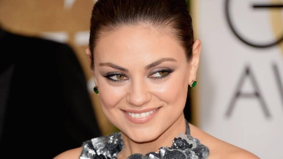 A atriz Mila Kunis foi do 2º para o 26º lugar
