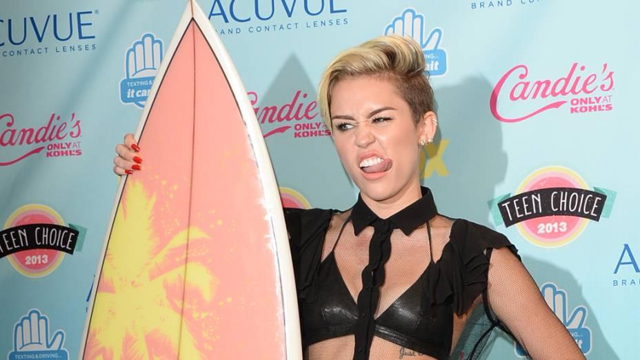 Miley Cyrus no Teen Choice Award de 2013