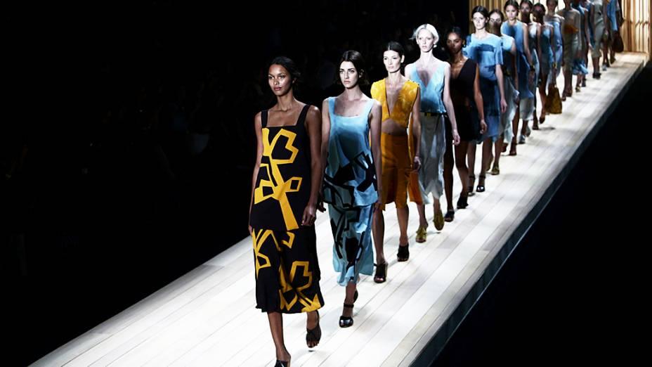 A grife Maria Filó apresenta nova coleção durante o segundo dia da Fashion Rio