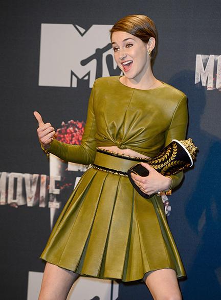 Shailene Woodley foi eleita a personagem favorita, a Tris do filme Divergente