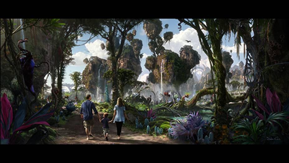 Montanhas flutuantes iguais às de Pandora serão reproduzidas no parque inspirado em Avatar