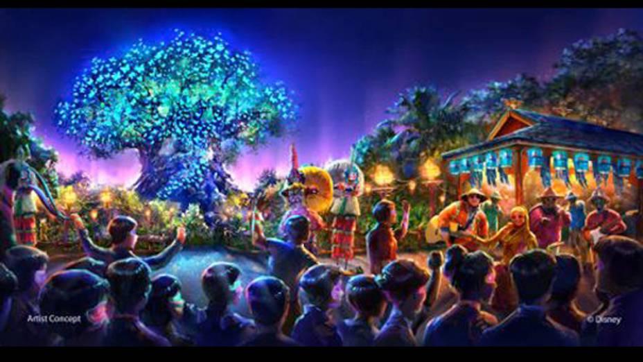 Atrações musicais também farão parte do novo parque da Disney inspirado no filme Avatar