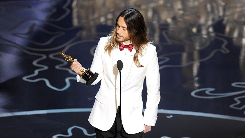 Jared Leto ficou com o Oscar de melhor Ator coadjuvante, por sua atuação no filme 'Clube de Compras Dallas'