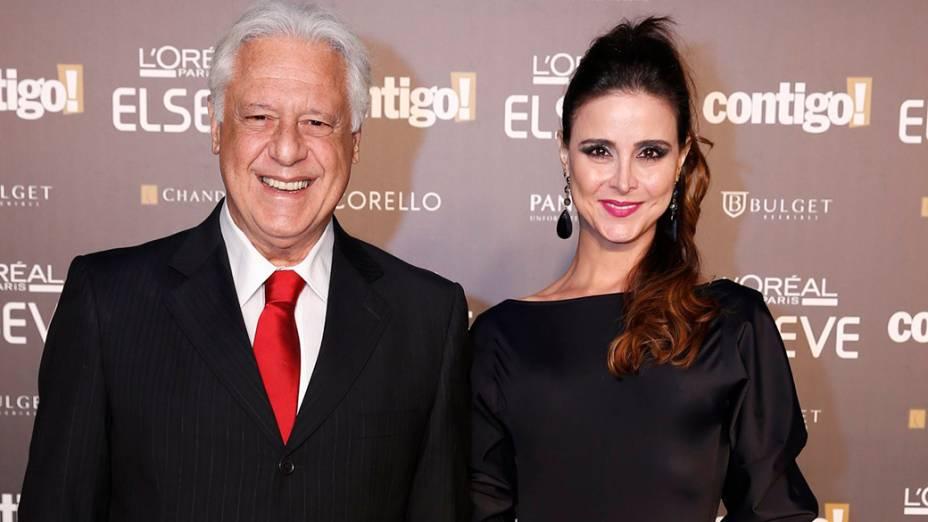 Antônio Fagundes e a esposa, durante a 16ª edição do Prêmio Contigo! de TV, no Hotel Copacabana Palace, no Rio de Janeiro