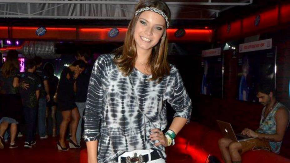 Milena Toscano no camarote Trident, no Rock in Rio 2013