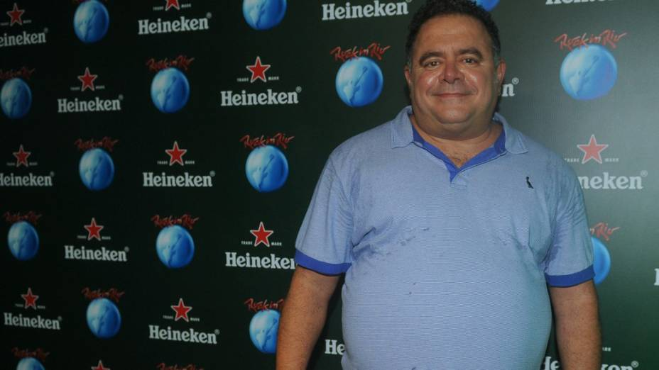 Léo Jaime no camarote Heineken no Rock in Rio 2013