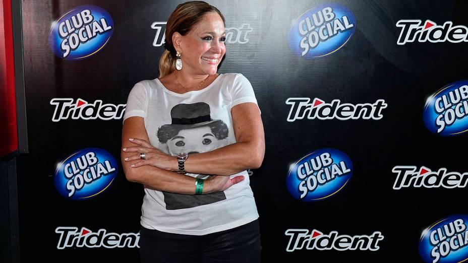 Suzana Vieira no camarote da Trident no quinto dia do Rock in Rio 2013