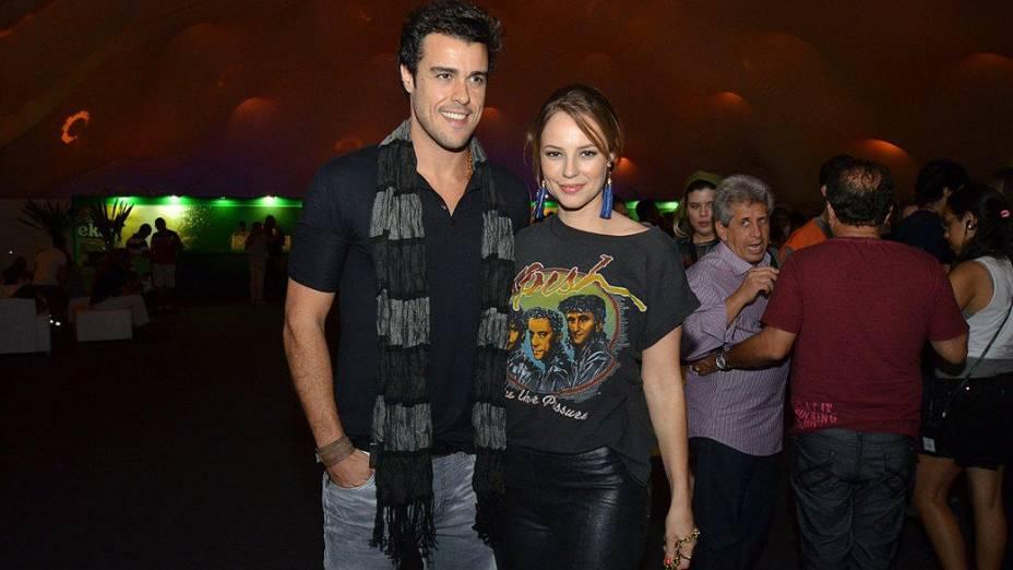 Paola Oliveira e o marido curtem o quinto dia do Rock in Rio 2013