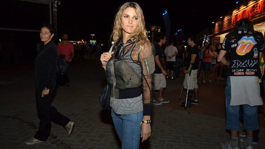 Fernanda Lima curte o quinto dia do Rock in Rio 2013