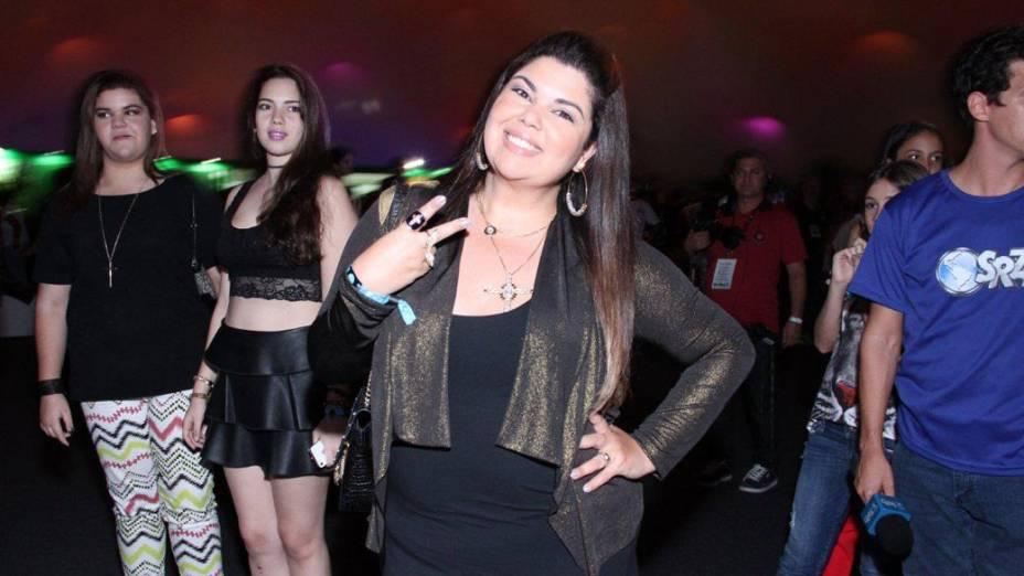Fabiana Karla na área Vip na cidade do Rock