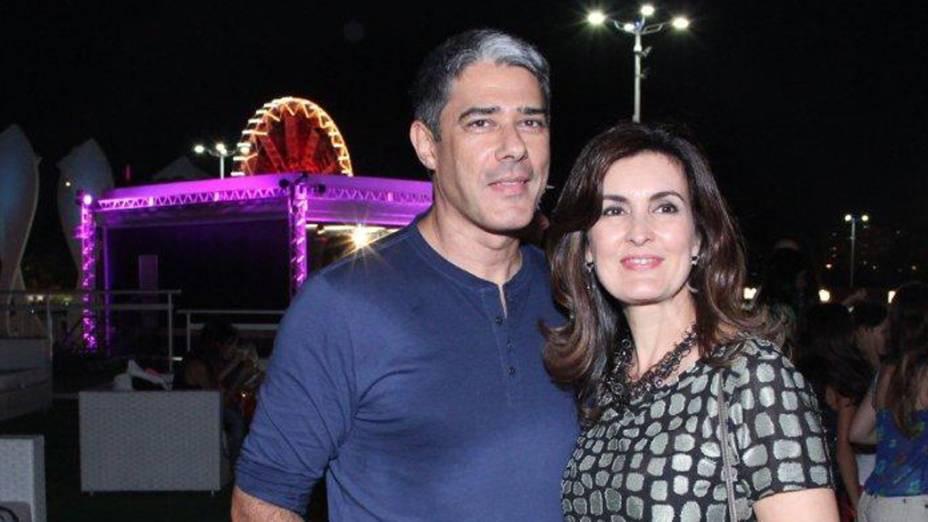 Willian Bonner e Fátima Bernardes na Area Vip na cidade do Rock